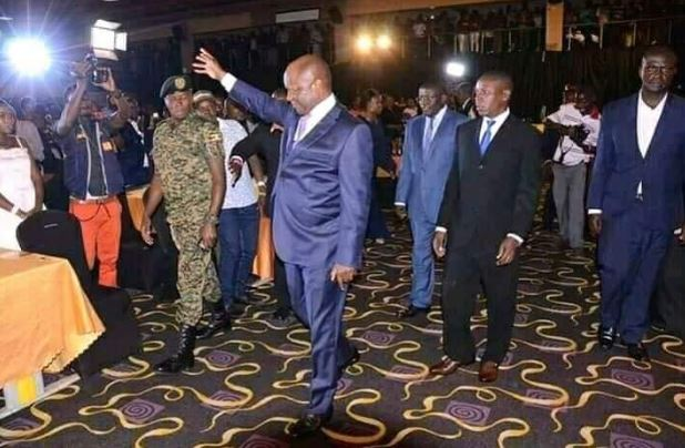 Buganda King Ronald Mwenda Mutebbi II arrives at the show. (PHOTO/Courtesy)