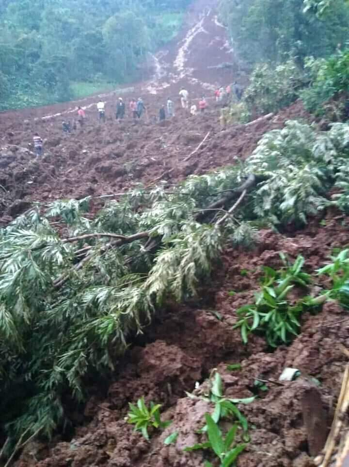 The impact of the June 4 landslides in  Lutsakhe constituency, Bunamwaba Parish, Buwali Sub county in Bududa District.  (PHOTO/RedCrossUG)