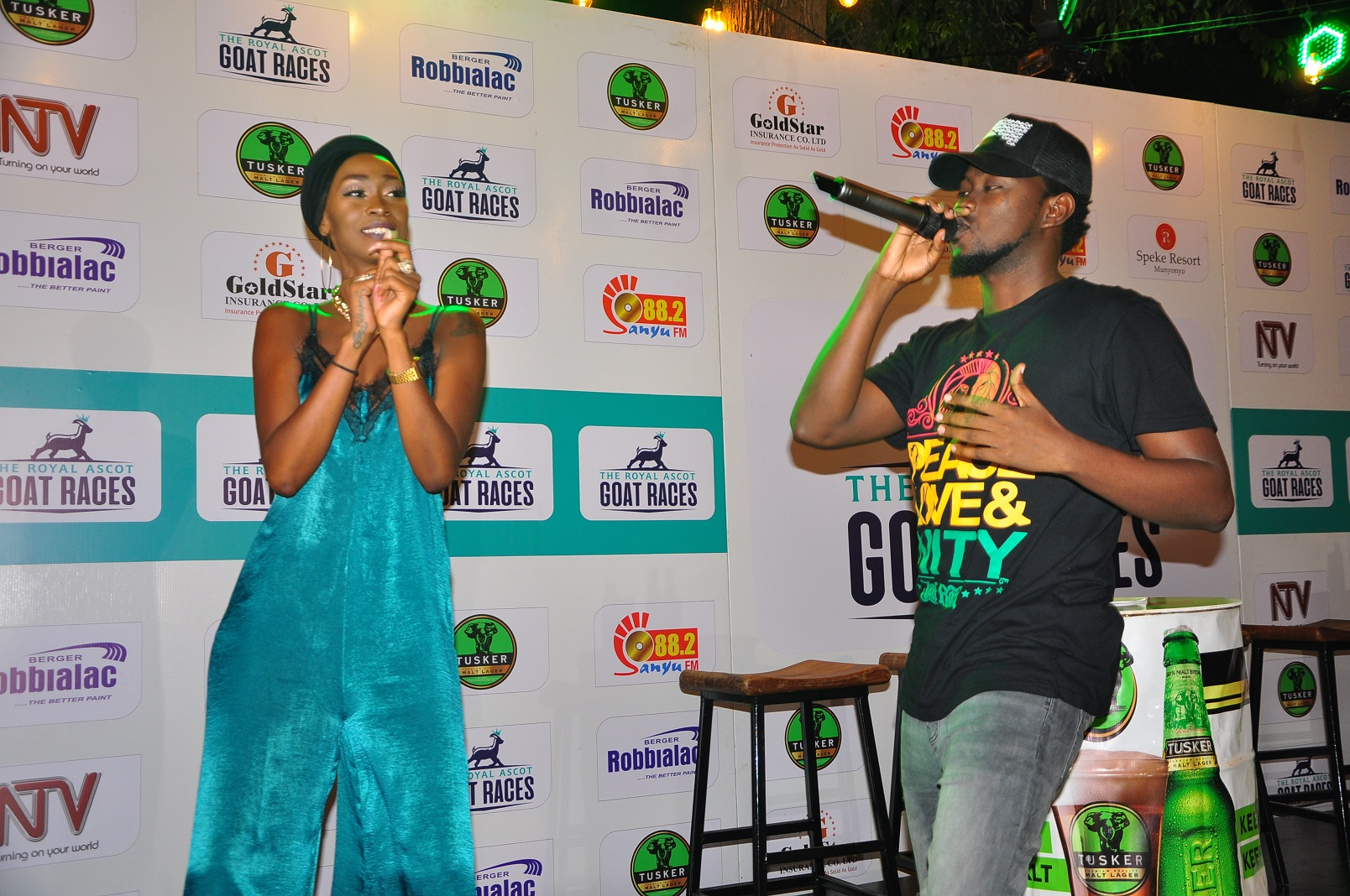 Judith Heard dancing Chiki bombe move along side levixone ( Photo / Abraham Mutalyebwa)