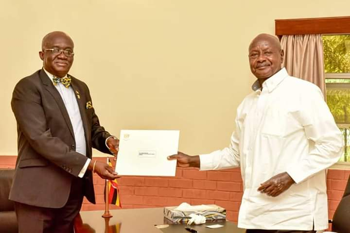 Mr. Museveni received a special message from the president of Ghana. (PHOTO/ PPU)