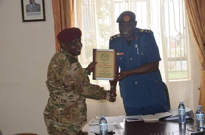 Col Emmanuel Kwihangana has  assumed the appointment of Chief of Staff Air Forces (in acting capacity) from Maj Gen James Birungi who was recently appointed by the Commander-in-Chief of the UPDF as the Commander Special Forces Command. (PHOTO/UPDF)