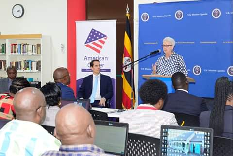 US Ambassador to Uganda, Deborah Malac confirmed the training of Staff from the Ministry of Water & Environment.  (PHOTO/Courtesy)