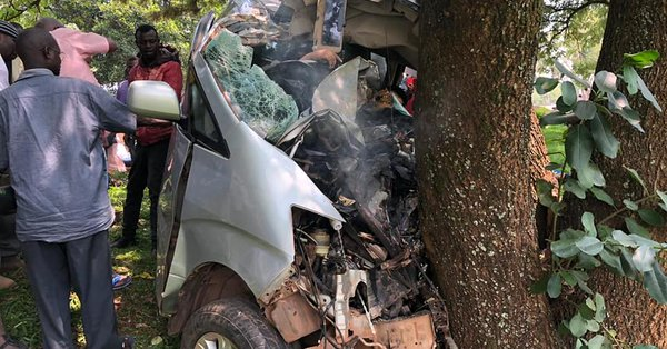 The wreakage of vehicle in which the four foreign nationals were in after the accident; claiming their lives. (PHOTO/courtesy)