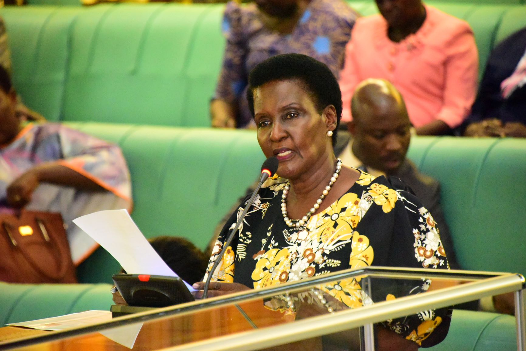 The Minister for Trade, Industry and Cooperatives, Hon. Amelia Kyambadde. Sugarcane saga leaves MPs with bitter taste. (PHOTO/PML)