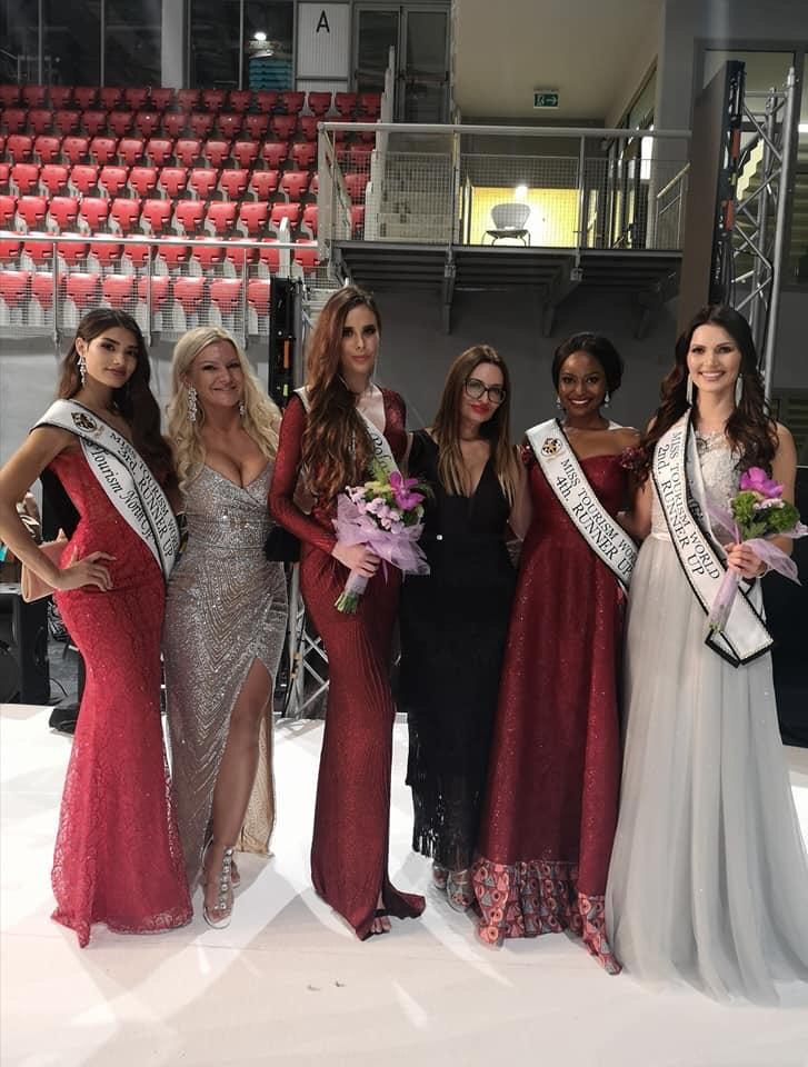 Ms. Anita Ayebare posing with some of the contestants. (PHOTO/Courtesy)