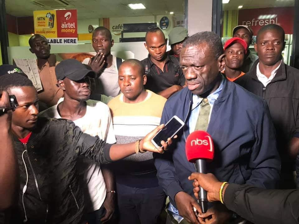 Dr. Kizza Besigye reacts to the Nsambya shooting. He is the owner of the petrol station where the crime happened. He says the criminals were in civilian clothes. (PHOTO/Courtesy)