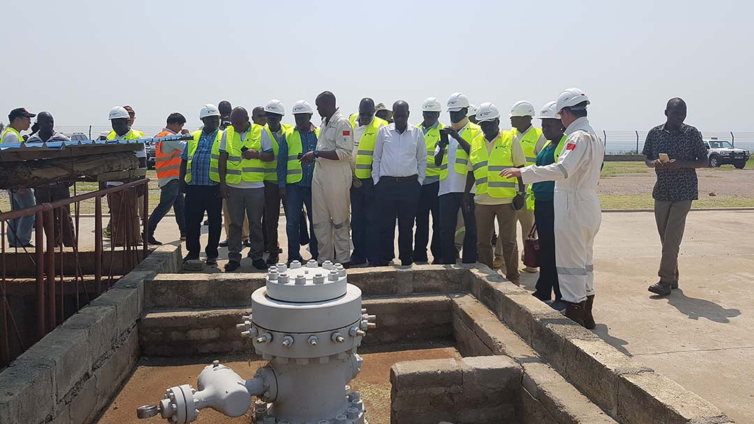MPs inspect Kingfisher oil wells in Hoima district during a visit to Oil and Gas operational areas. (PML Daily)