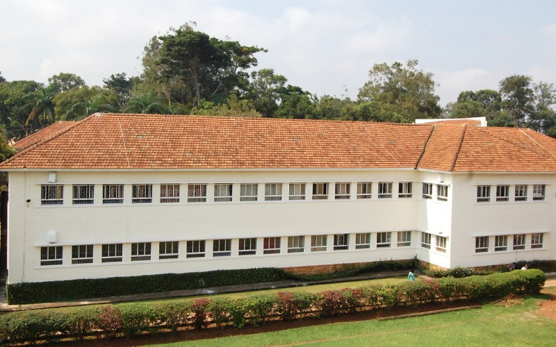 An elevated shot of the Arts Building, College of Humanities and Social Sciences (CHUSS), as seen from the Main Building, Makerere University, Kampala Uganda. (PHOTO/PML)