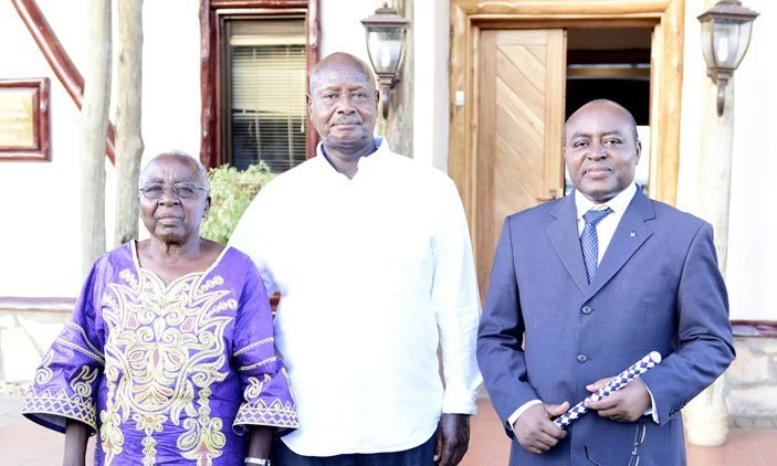 Queen Mother,Museveni,  and Mumbere