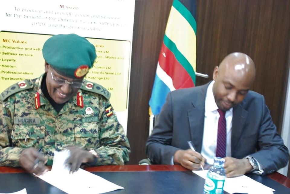 Lt Gen James Mugira and Mr. Richard Jabo