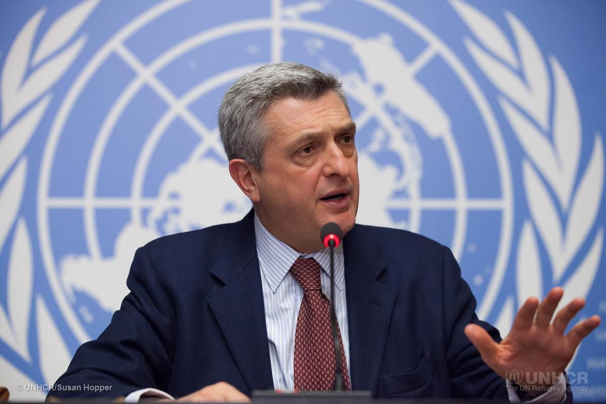 UNHCR's new High Commissioner, Filippo Grandi, speaks at his first press conferance as head of the agency.