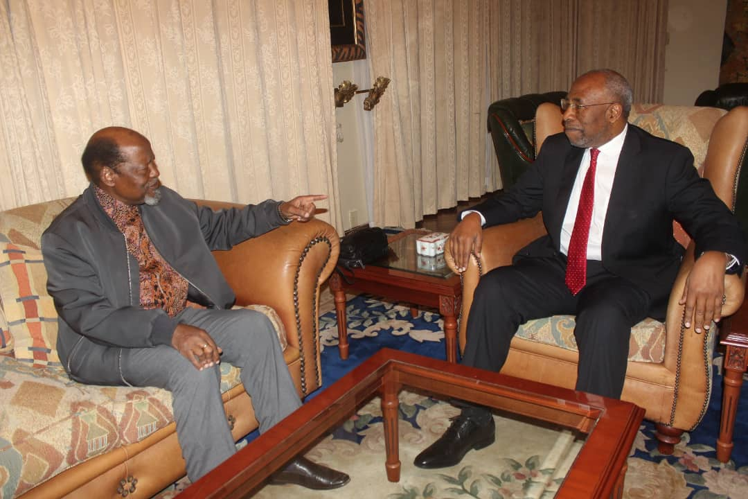 Uganda PM Rugunda has met with Mozambique former president in Maputo on the sidelines of US-Africa business summit. (PHOTO/Courtesy)