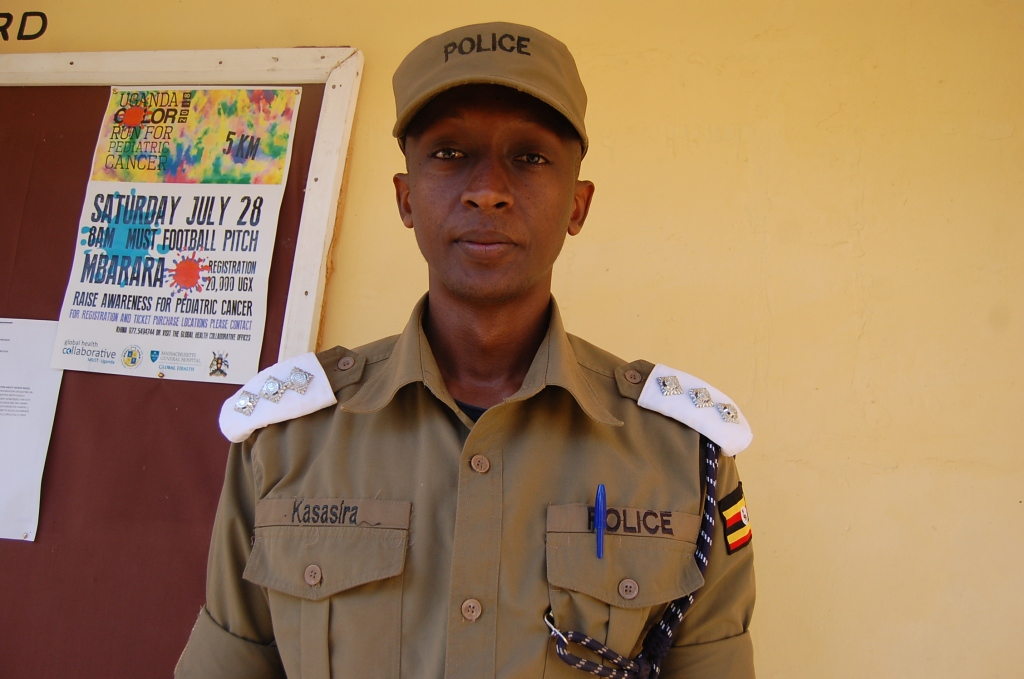 amson Kasasira the policespokesperson for Rwizi region. (PHOTO/Bob Aine)