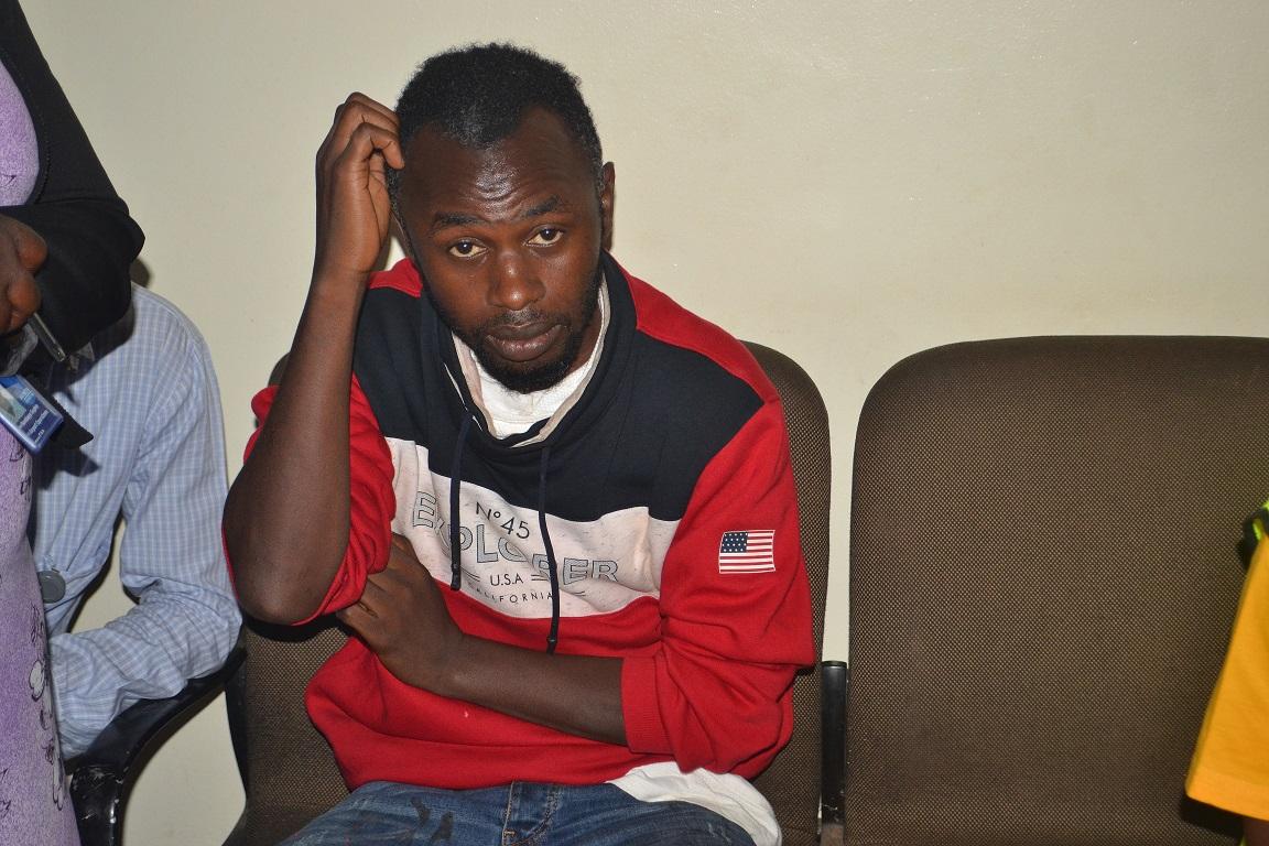 The alleged heroin trafficker Mr Huzaifa Ssemwogerere.