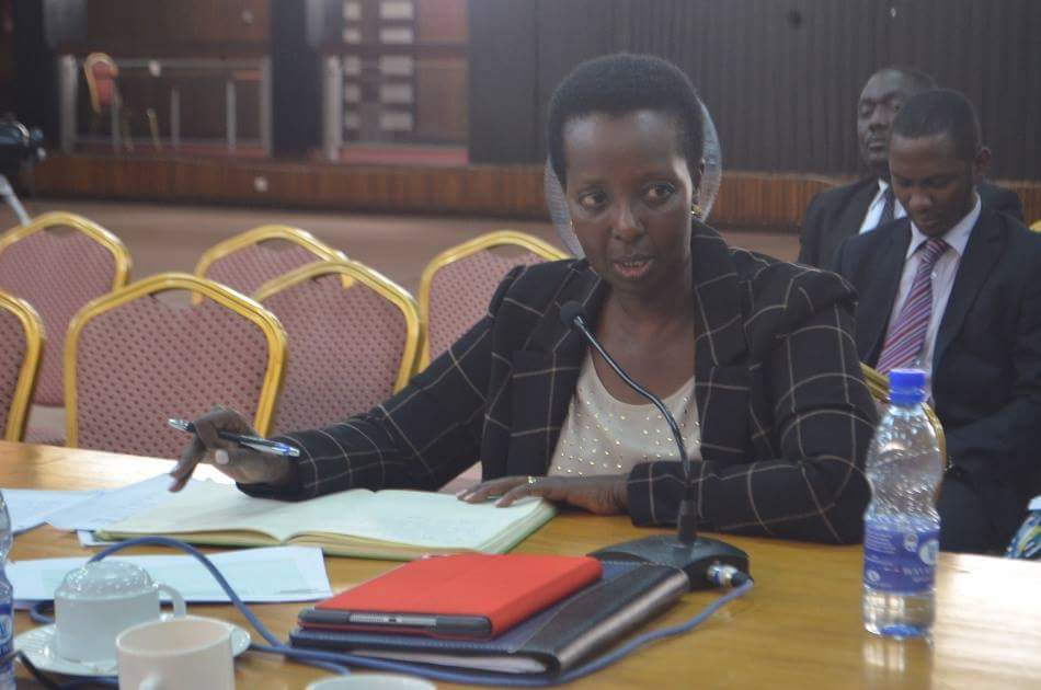 UNRA Executive Director, Allen Kagina appearing before a Parliamentary Committee