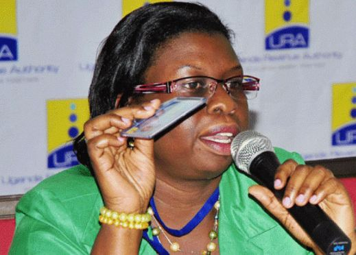 Uganda Revenue Authority Commissioner General, Doris Akol stresses a point recently. (PHOTO/File)