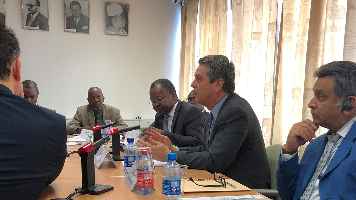 DG Azevêdo pledges support for Africa's continued economic integration. (PHOTO/Courtesy)