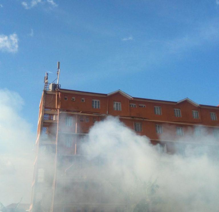 Frama Hostel at Makerere University catches fire. (PHOTO/PML Daily)