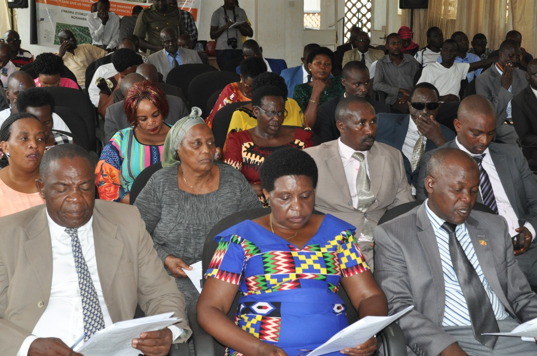 Mbarara councilors during the council meeting on friday. (PHOTO/Bob Aine)