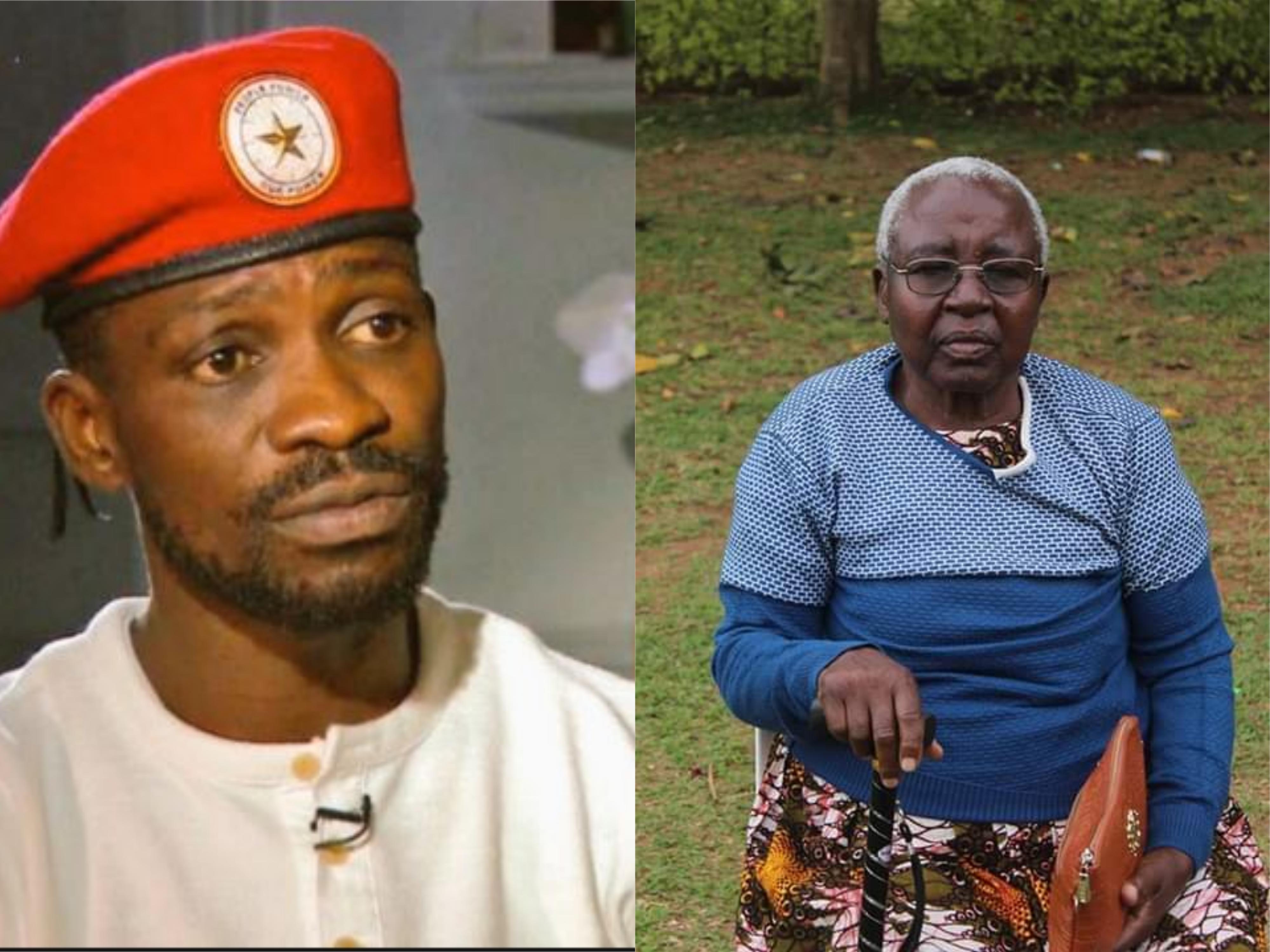 Bobi Wine and the fallen Rwenzururu queen mother Ms. Christine Biira Mukirania.