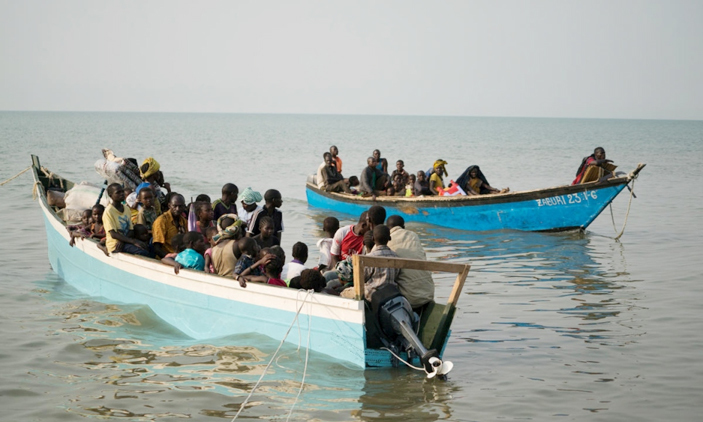 UNHCR says that 0ver 20000 are fleeing DRC to Uganda via Lake Albert after  fresh violence. (PHOTO/Courtesy)