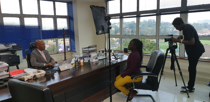 The Executive Director – Uganda Communications Commission Mr Godfrey Mutabazi during an interview with the BBC East Africa Bureau. (PHOTO/Agency)