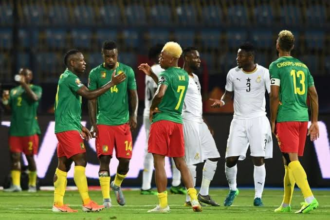 Cameroon (Green) have not lost to Ghana (White) in five AFCON games. (PHOTOS/Agency).