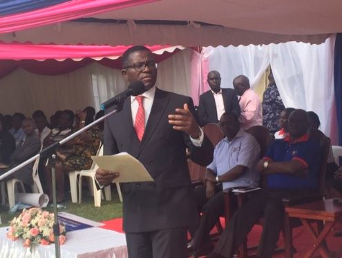 The Katikkiro of Buganda Owek. Charles Peter Mayiga making remarks during the open day at UCU Mukono premises. (PHOTO/Namajja Elizabeth)