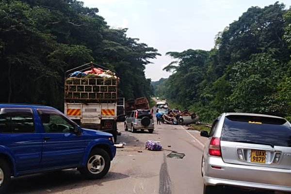 The accident scene in Mabira Forest