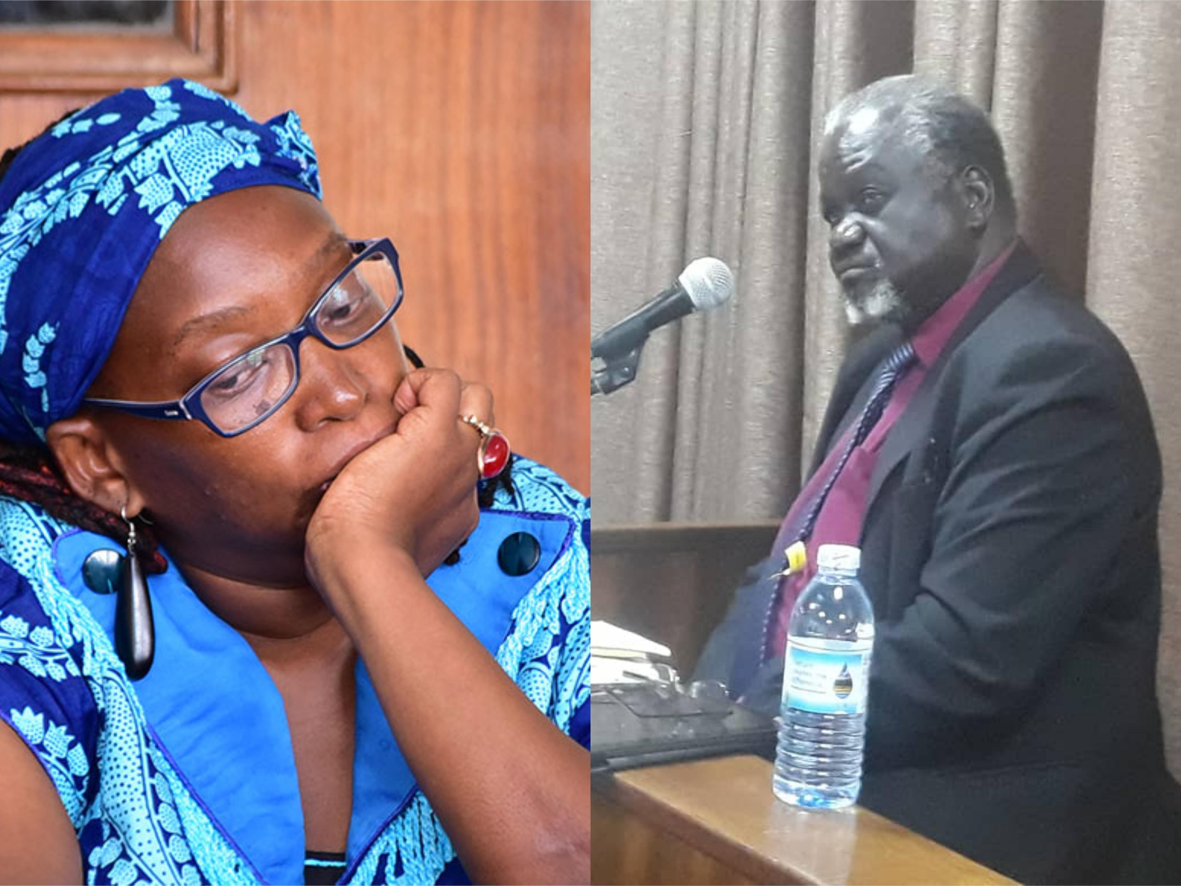 Counsel Opwonya on the stand testifying against Nyanzi