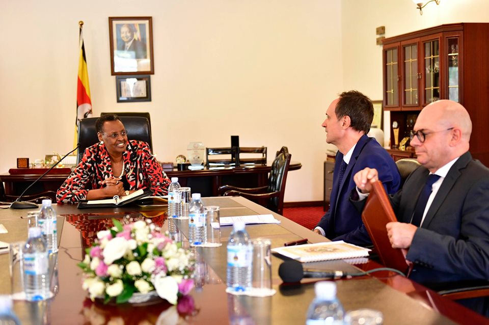 Mr. Hugo Verbist meets the First Lady, Janet Museveni.