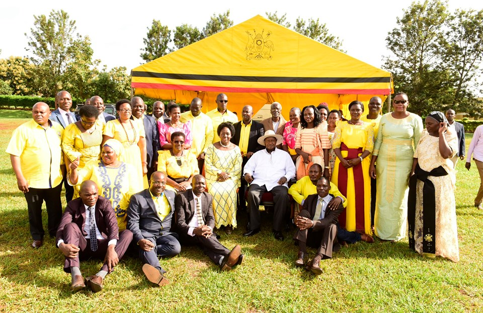 President Museveni in a group photo with
