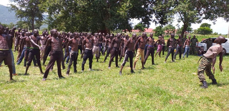 Local Defence Force recruitment taking place in the Country. (PHOTO/Courtesy)