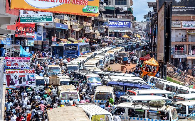Motor vehicles in a traffic jam in one of the streets in Kampala. (PHOTO/File)