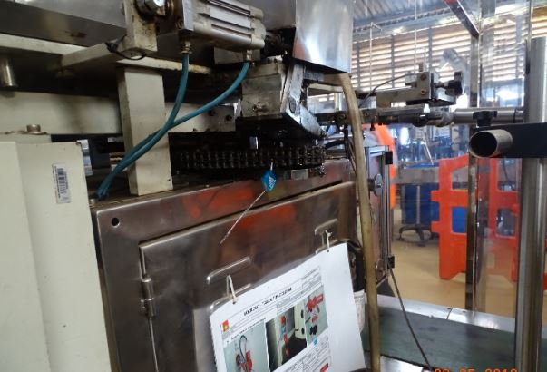 One of the sachet-filling machines that were closed by UNBS. (PHOTO/Courtesy)