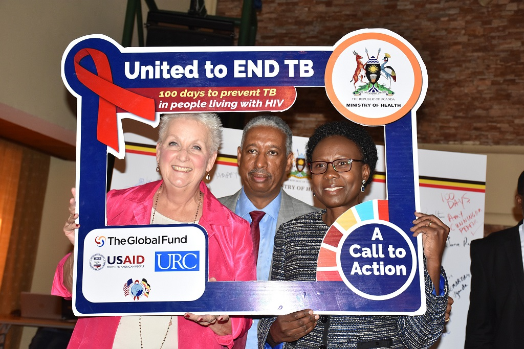 US. ambassdor to Uganda, Deborah Malac, WHO representative and health minister Ruth Aceng. The WHO will convene a Guideline Development Group (GDG) to update the existing guidelines on (Tuberculosis Preventive Treatment) TPT. (PHOTO/WHO)