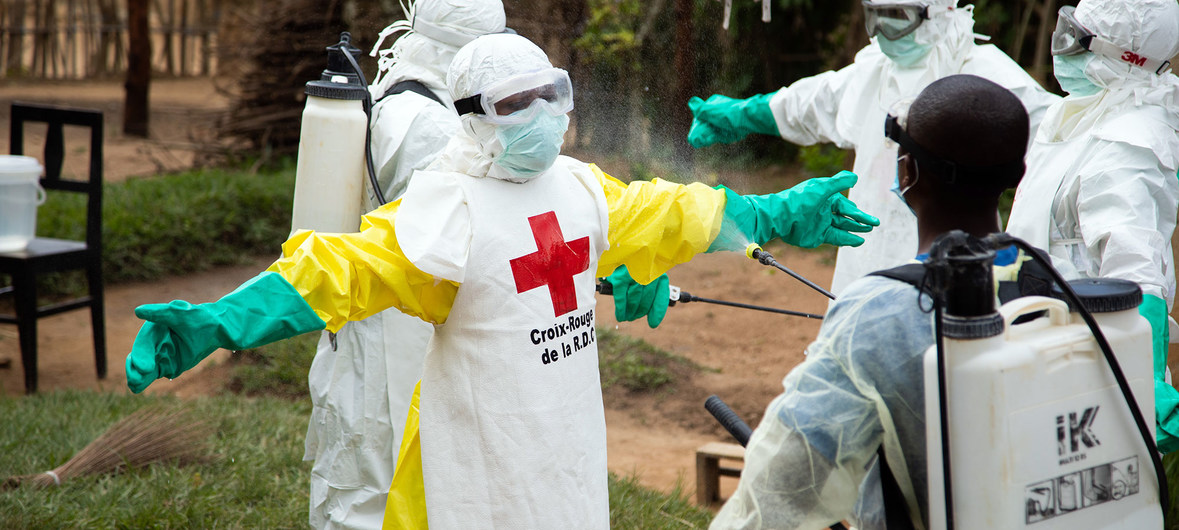 "Medical personnel in Beni, Democratic Republic of the Congo. Ebola outbreak in DRC has been declared a ""Public health emergency of international concern' by WHO. (PHOTO/File)"