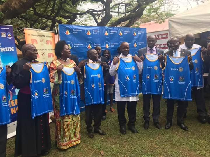 The Speaker has today launched the #CancerRun 2019 at Nsambya Hospital. Parliament of Uganda is one of the main sponsors of the run. (PHOTO/Courtesy)