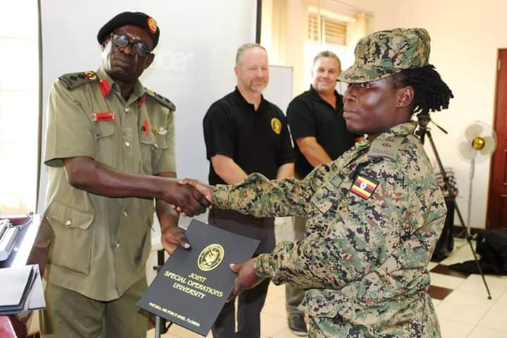 Deputy Chief of Staff URDCC Col Paul Eswapu congratulated the participants upon completion of the seminar. (PHOTO/Courtesy)