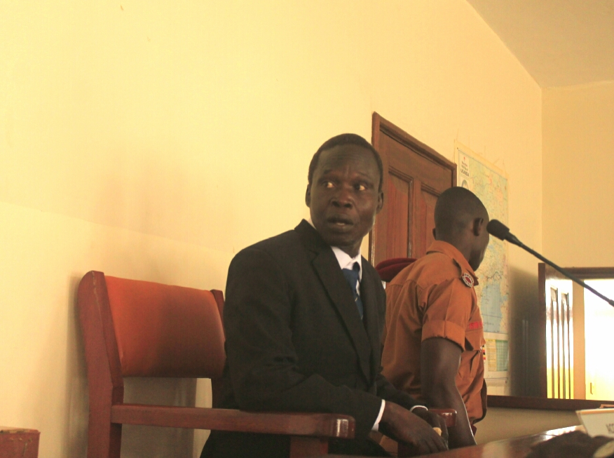 Former LRA Kwoyelo in Gulu High Court. (PHOTO/DAVID OKEMA)