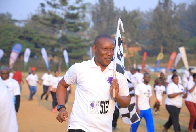 Mbarara Municipality MP Hon Micheal takes part in the 5th Annual Uganda Color Run for Pediatric Cancer at Mbarara Uganda on Saturday July 27. (PHOTO/PML Daily)