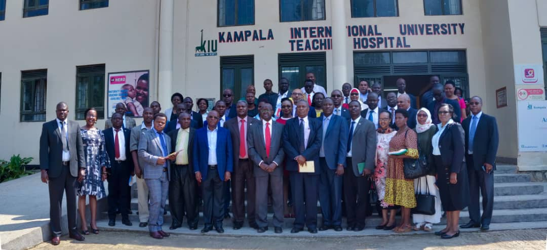 Officials from the East African Medical council share a pictorial moment with KIU dental School fraternity on an assessment visit.  (PHOTO/Courtesy)