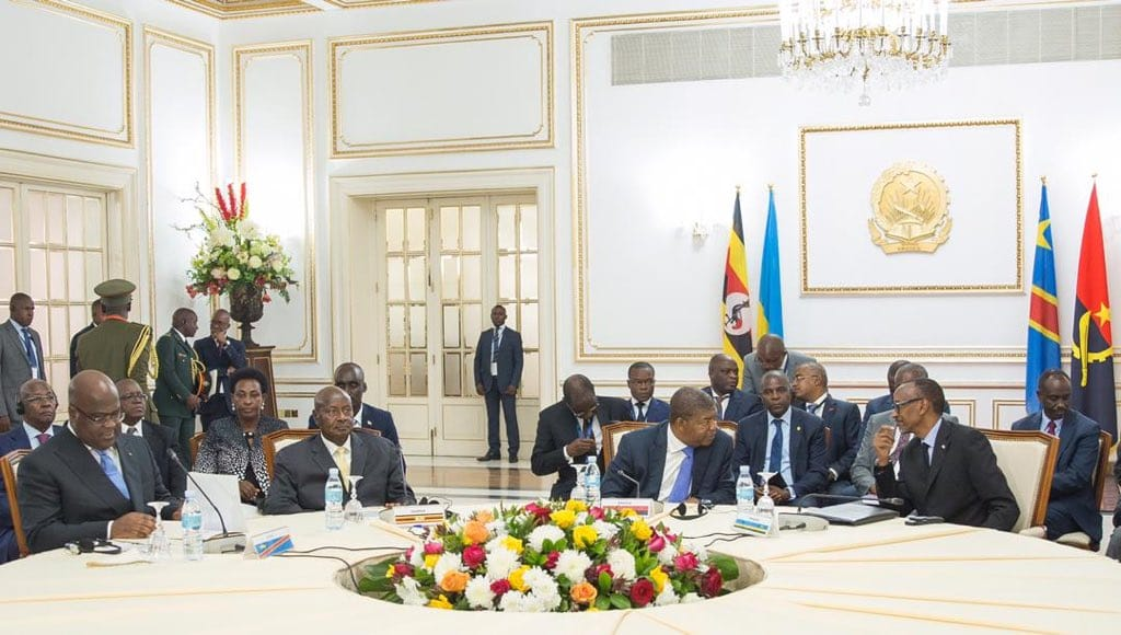 The quadripartite meeting of the heads of state and governments of the republics of Angola, Uganda, Rwanda and the Democratic Republic of Congo (DRC)