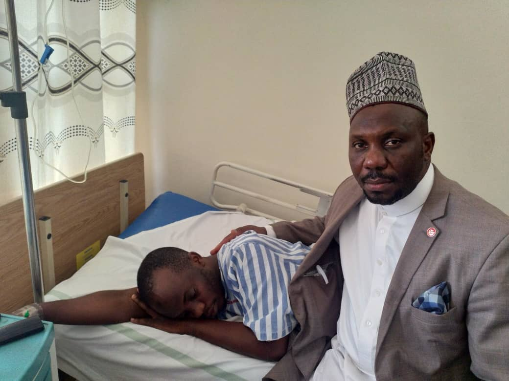 Kawempe North MP Latif Ssebagala visited the frail journalist at Mengo Hospital. (PHOTO/Courtesy)