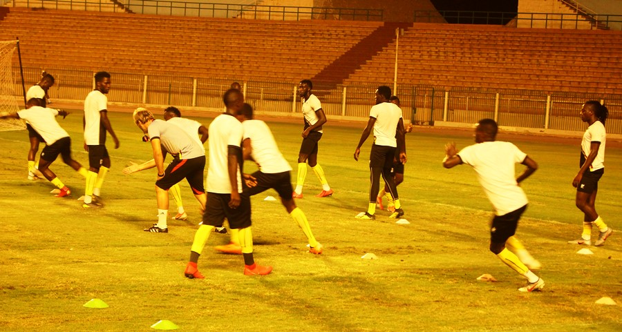 Cranes players in training on Wednesday night. (PHOTO/Agency)