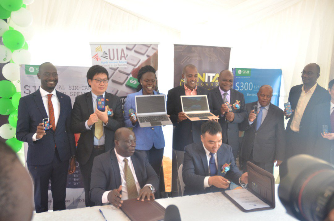The MOU was signed at the ground breaking ceremony of the SIMI manufacturing plant in Namanve industrial Park and was witnessed by the Minister for ICT Frank Tumwebaze and the State Minister of Finance for Investment and Privatization Evelyn Anite.