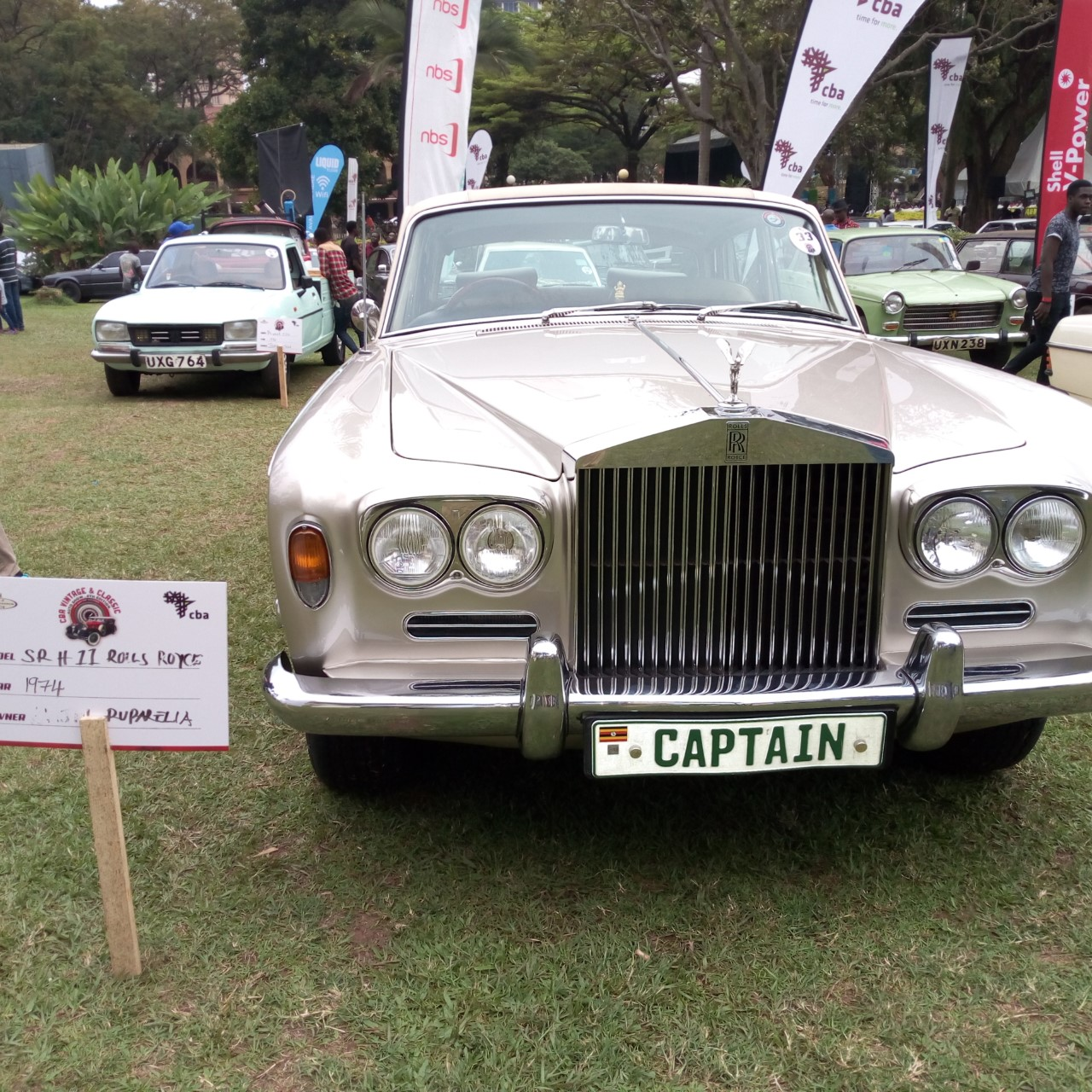 Mr.Rajiv Ruparelia's Rolls Royce, 1974 Model won the 2nd Position at the 8th Auto Vintage  classic show (PHOTO/Abraham Mutalyebwa)