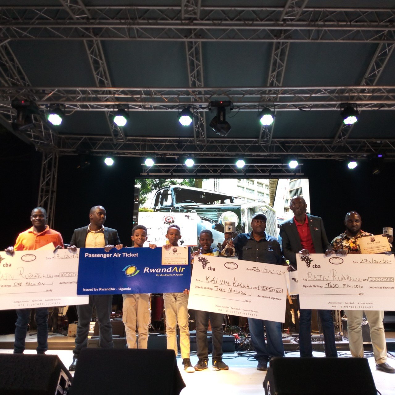 Some of the winners at (PHOTO/Abraham Mutalyebwa)