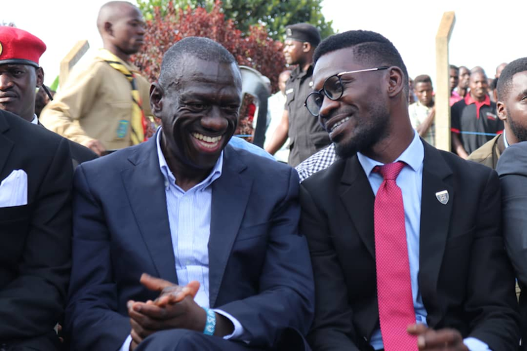 Kizza Besigye with Bobi Wine