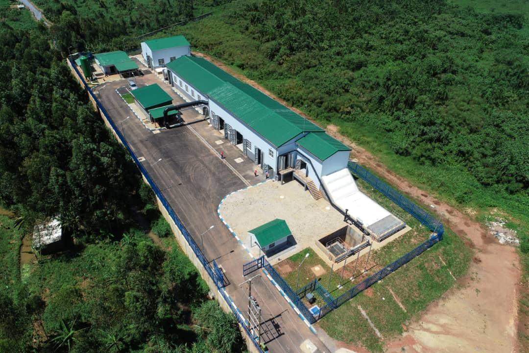 The new Kinawataka sewerage pre-treatment plant.